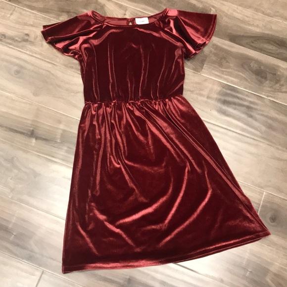 OLD NAVY girls velvet dress
